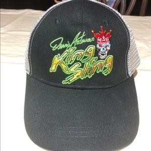 Dennis Anderson King Sling hats and cups